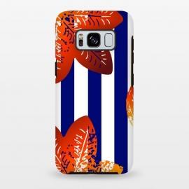 Galaxy S8 plus  blue stripes pattern by