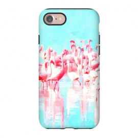 iPhone 8/7  Flamingos Tropical Illustration by Alemi