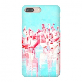 Flamingos Tropical Illustration by Alemi