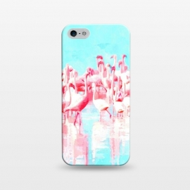 iPhone 5/5E/5s  Flamingos Tropical Illustration by Alemi