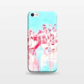 iPhone 5C  Flamingos Tropical Illustration by Alemi