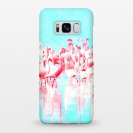 Galaxy S8+  Flamingos Tropical Illustration by Alemi