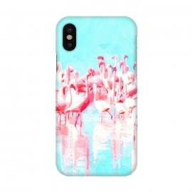iPhone Xs / X  Flamingos Tropical Illustration by Alemi