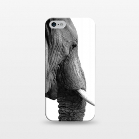 iPhone 5/5E/5s  Black and White Elephant Profile by Alemi