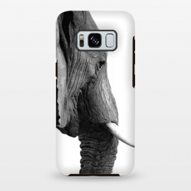 Galaxy S8+  Black and White Elephant Profile by Alemi