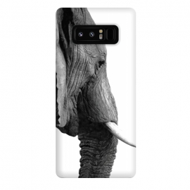 Galaxy Note 8  Black and White Elephant Profile by Alemi
