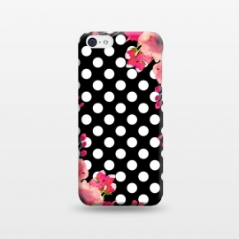 Black Polka Dots and Flowers by Alemi