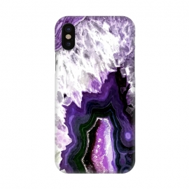 iPhone X  Purple Ultra Violet Agate by Alemi
