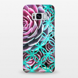 Galaxy S8+  Purple Cactus Turquoise Circle by Alemi