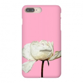 iPhone 8/7 plus  White Peony Pink Background by Alemi