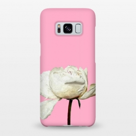 Galaxy S8+  White Peony Pink Background by Alemi