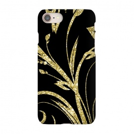 iPhone 8/7  Black Gold and Glitter Pattern by Alemi