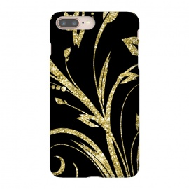 iPhone 8/7 plus  Black Gold and Glitter Pattern by Alemi