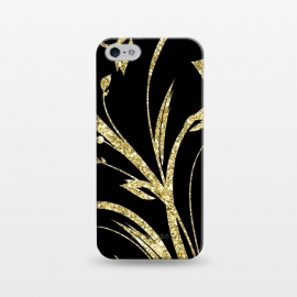 iPhone 5/5E/5s  Black Gold and Glitter Pattern by Alemi