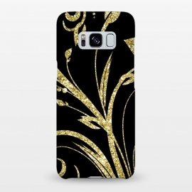 Galaxy S8+  Black Gold and Glitter Pattern by Alemi