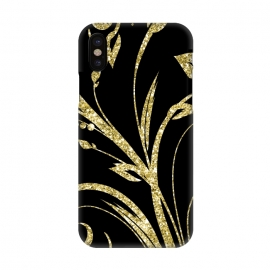iPhone X  Black Gold and Glitter Pattern by Alemi