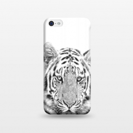 iPhone 5C  Black and White Tiger by Alemi