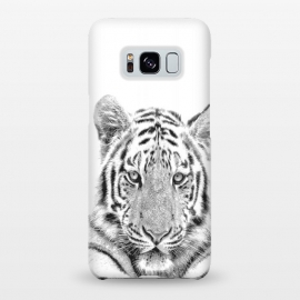 Galaxy S8+  Black and White Tiger by Alemi