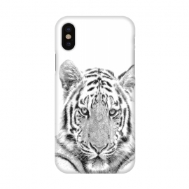 iPhone X  Black and White Tiger by Alemi