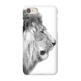 iPhone 8/7  Black and White Lion Profile by Alemi