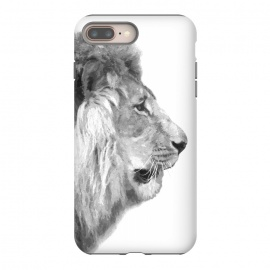 iPhone 8/7 plus  Black and White Lion Profile by Alemi