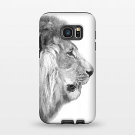 Galaxy S7  Black and White Lion Profile by Alemi