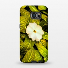 Galaxy S7 EDGE  Leaves and White Flower by Bledi