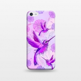 iPhone 5C  Hummingbird Spirit Purple Watercolor  by BluedarkArt
