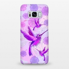 Galaxy S8+  Hummingbird Spirit Purple Watercolor  by BluedarkArt