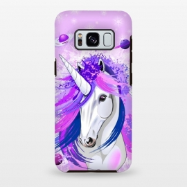 Galaxy S8+  Unicorn Spirit Pink and Purple Mythical Creature by BluedarkArt