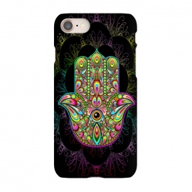 iPhone 8/7  Hamsa Hand Psychedelic Amulet  by BluedarkArt
