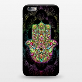 iPhone 6/6s plus  Hamsa Hand Psychedelic Amulet  by BluedarkArt