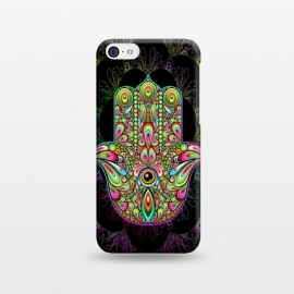iPhone 5C  Hamsa Hand Psychedelic Amulet  by BluedarkArt