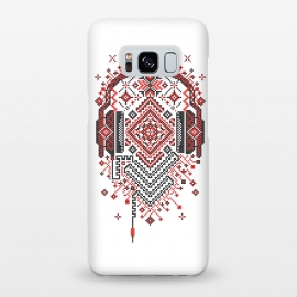 Galaxy S8+  Headphones Ornament by Sitchko Igor (Ethno, Ukraine, Embroidery, Ornament, Geometry, Vyshyvanka, National, Symbol, Series, Бродівське письмо, talisman, minimal, pattern, Traditional,headphones,music,sound,audio,techno,club,deep,house)