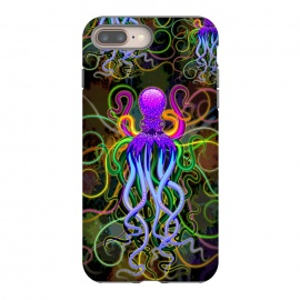 iPhone 8/7 plus  Octopus Psychedelic Luminescence by BluedarkArt