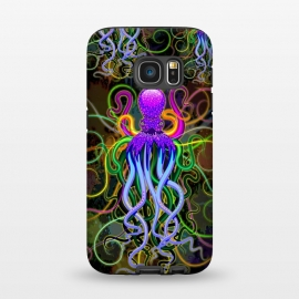 Galaxy S7  Octopus Psychedelic Luminescence by BluedarkArt