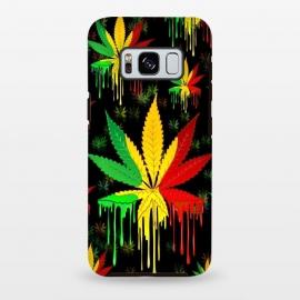 Galaxy S8 plus  Marijuana Leaf Rasta Colors Dripping Paint by