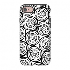 iPhone 8/7  Black Roses by Julia Grifol (flowers, black,white,pattern,garden,deco,botanical)