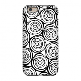 iPhone 6/6s  Black Roses by Julia Grifol (flowers, black,white,pattern,garden,deco,botanical)