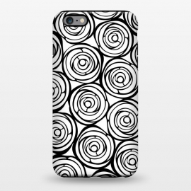 iPhone 6/6s plus  Black Roses by Julia Grifol (flowers, black,white,pattern,garden,deco,botanical)