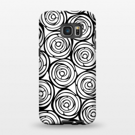 Galaxy S7 EDGE  Black Roses by Julia Grifol (flowers, black,white,pattern,garden,deco,botanical)