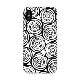 iPhone X  Black Roses by Julia Grifol (flowers, black,white,pattern,garden,deco,botanical)