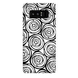 Galaxy Note 8  Black Roses by  (flowers, black,white,pattern,garden,deco,botanical)