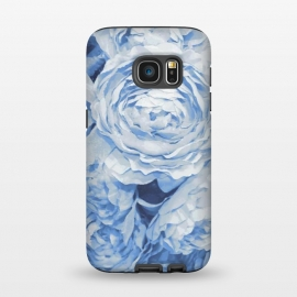 Galaxy S7  Blue roses by Julia Grifol (blue,roses,garden,spring,botanical,sweet,romantic)