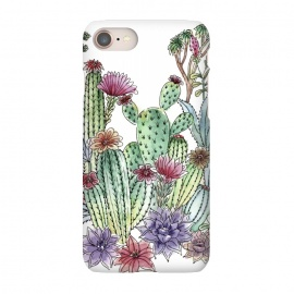 iPhone 8/7  Cactus garden by Julia Grifol (cactus, cacti,watercolour,painting,ink,garden,illustration,handrawn,botanical)