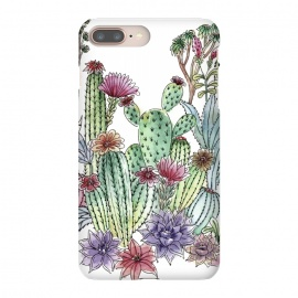 iPhone 8/7 plus  Cactus garden by Julia Grifol (cactus, cacti,watercolour,painting,ink,garden,illustration,handrawn,botanical)