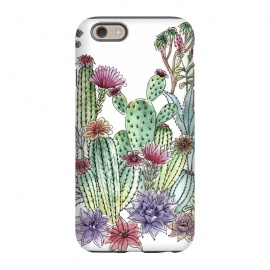 iPhone 6/6s  Cactus garden by Julia Grifol (cactus, cacti,watercolour,painting,ink,garden,illustration,handrawn,botanical)