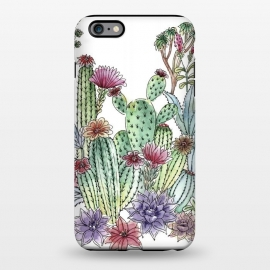iPhone 6/6s plus  Cactus garden by Julia Grifol (cactus, cacti,watercolour,painting,ink,garden,illustration,handrawn,botanical)