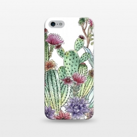 iPhone 5/5E/5s  Cactus garden by Julia Grifol (cactus, cacti,watercolour,painting,ink,garden,illustration,handrawn,botanical)