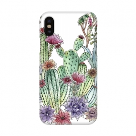 iPhone X  Cactus garden by Julia Grifol (cactus, cacti,watercolour,painting,ink,garden,illustration,handrawn,botanical)